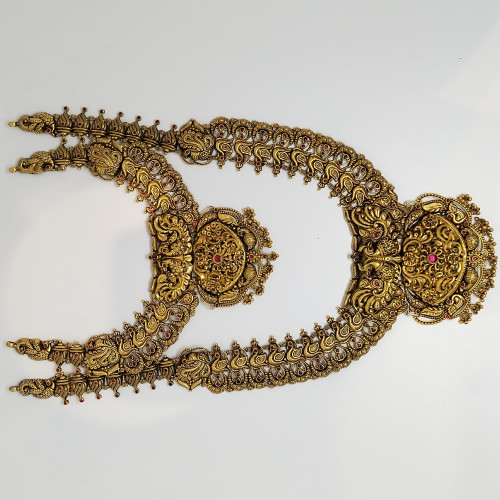Antique Peacock Haram And Necklace Set