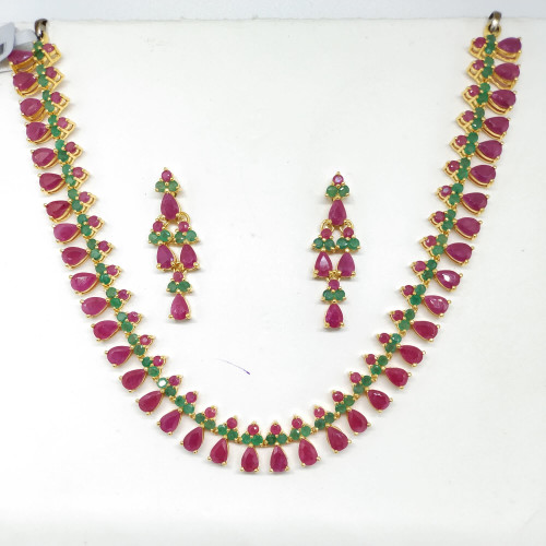 Ruby And Emerald Fancy Nacklace