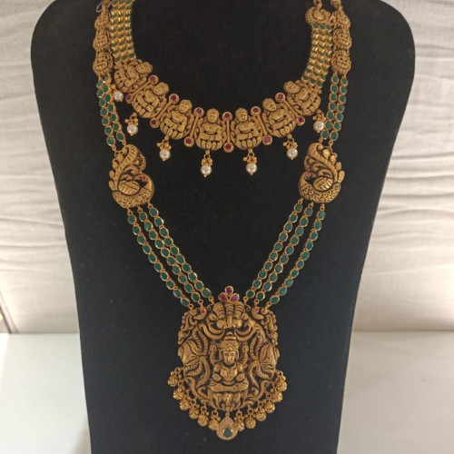 Antique Temple Haram And Necklace