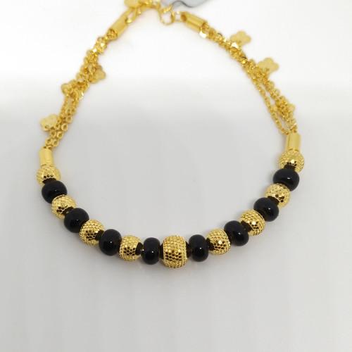 Black Beeds Ladies Bracelet