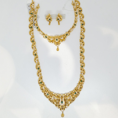 Jewel One Classic Emerald Haram And Necklace