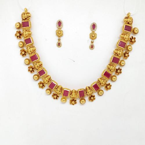 Antique Lakshmi Ruby Nacklace