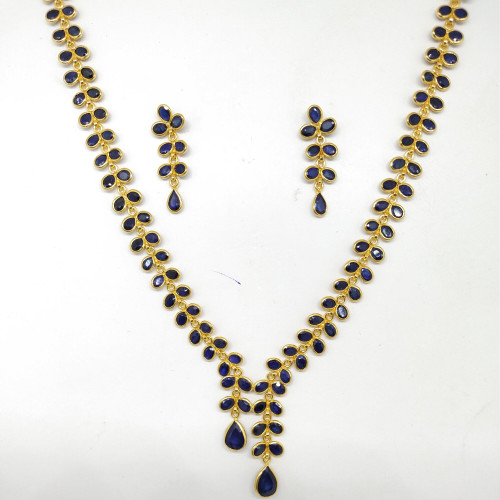 Blue Sapphire Stone Fancy Nacklace