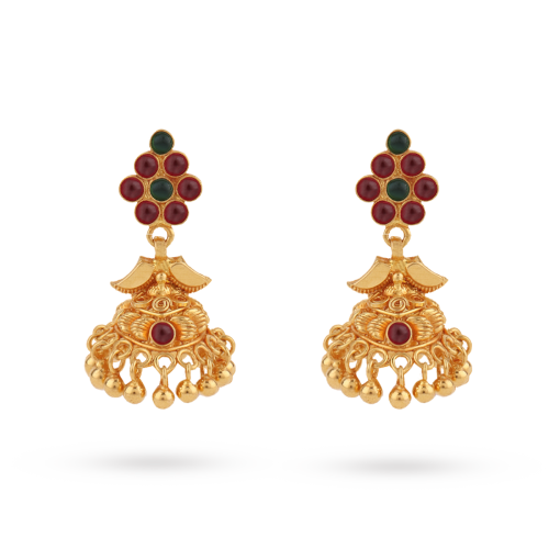 Mayur-traditional-jhumka