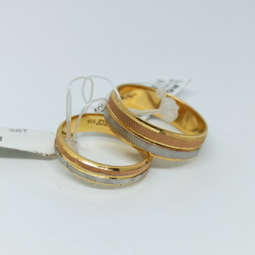 Double Tone Couple Ring