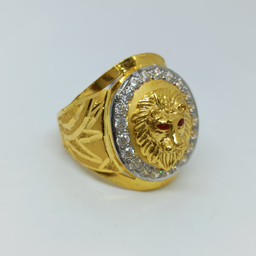 Lion Face Cz Ring