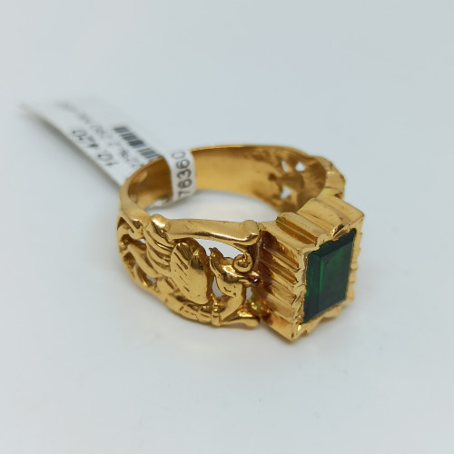 Emerald Cz Antique Ring