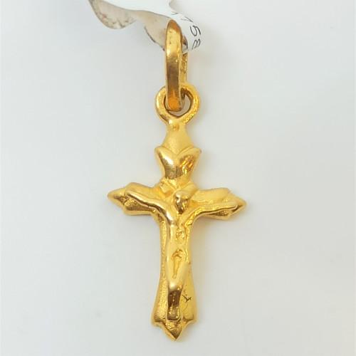 Jesus Plain Gold Pendant