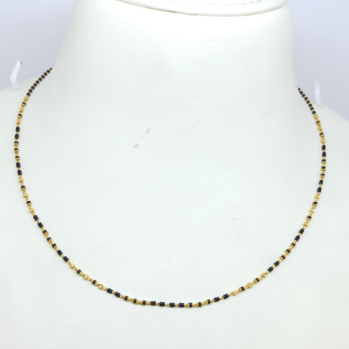 Black Bead Mangalsutra Chain