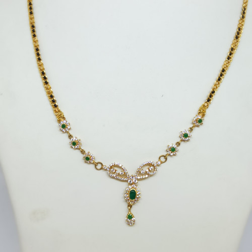 Designer Cz Blackbead Necklace