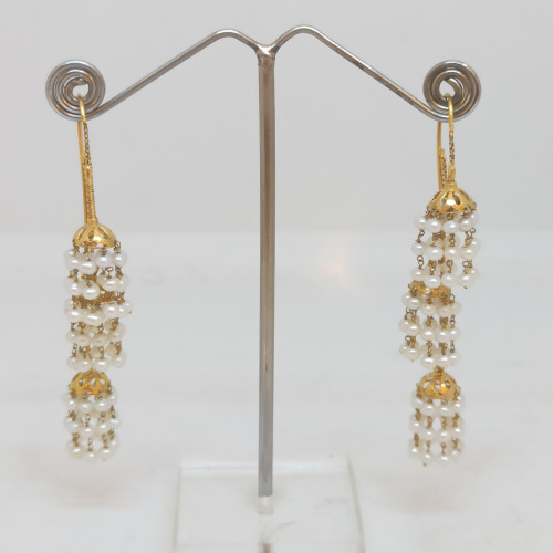 Moti Drop Earrings