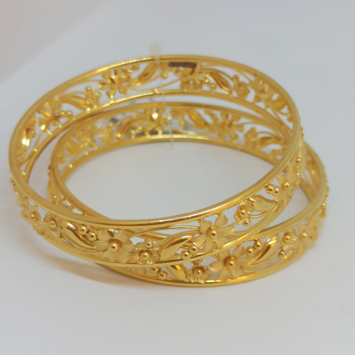 Jasmin Plain Gold Bangles