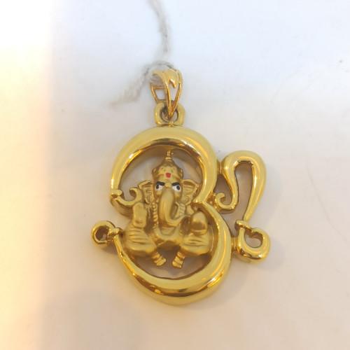 Om Ganesha Pendant