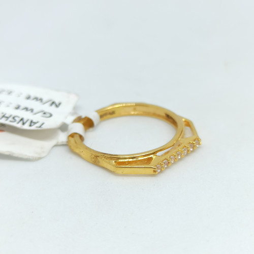 Flat Cz Designer Ring
