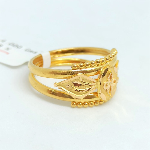 Plain Gold Cut Ring