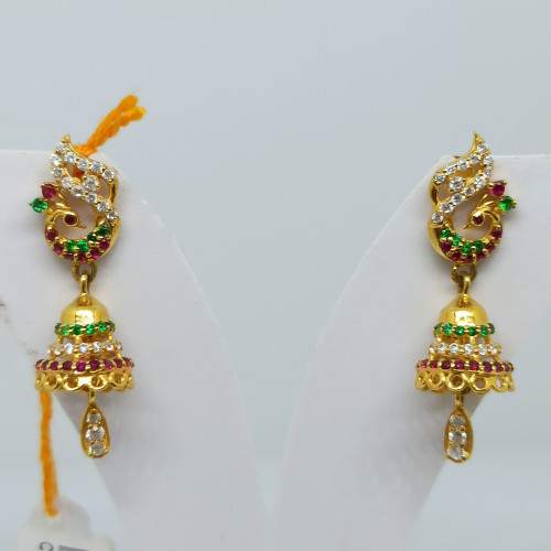 Peacock Colorstone Cz Earrings