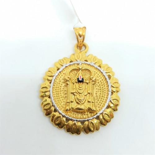 Balaji Plain Enamel Pendant