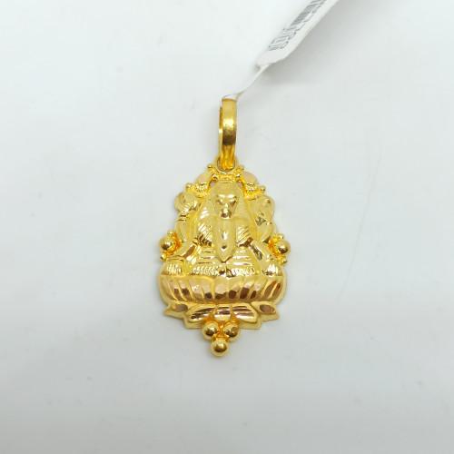 Lakshmi Plain Gold Pendant
