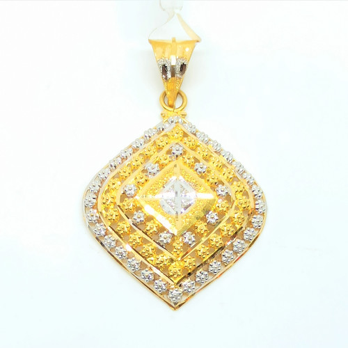 Dotted Double Tone Pendant