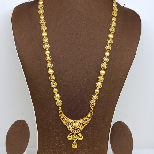 Tanishka Plain Gold Jali Haram
