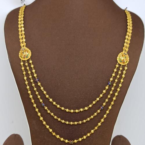 Gold Gundu Bead Neckalce