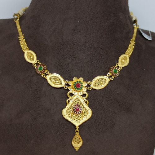 Anuradha Traditional Gold Necklace