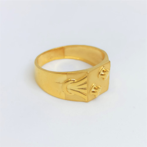 Knot Plain Gold Ring 2