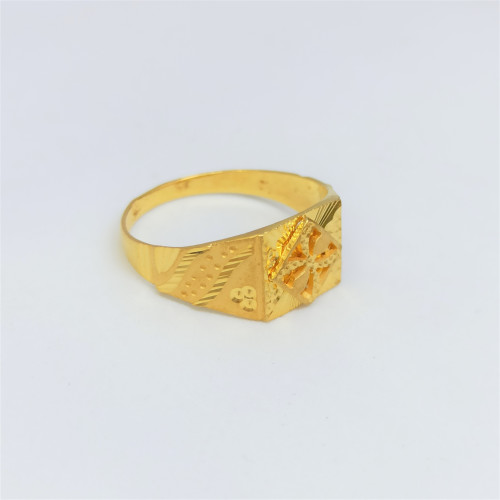 Star Plain Gold Ring