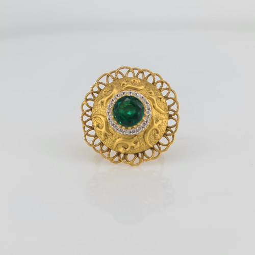 Designer Gold Ring 09