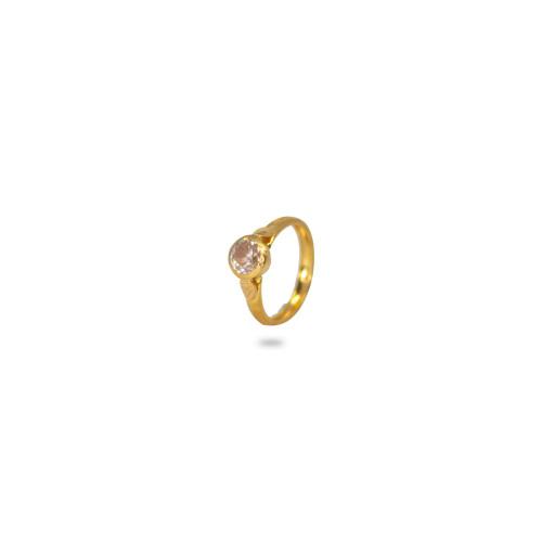 White Stone Baby Ring