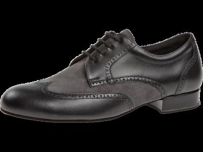 Herren Tanzschuh Mod. 094 für Standard in Schwarz Leder