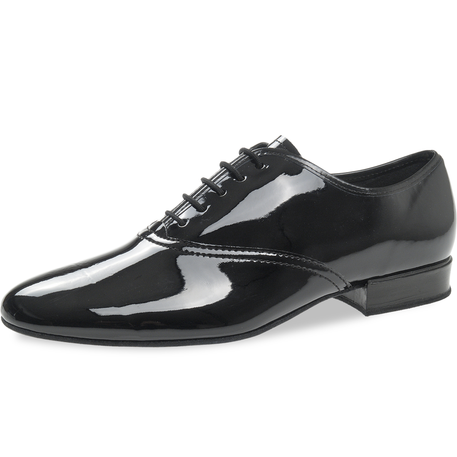 294297d986b Mod. 078 mens dance shoes width G regular width heel 2 cm black patent synth