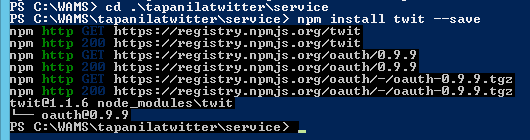 PowerShell NPM Install
