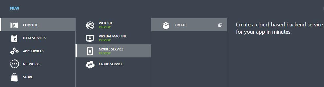 CreateMobileServiceFromPanel
