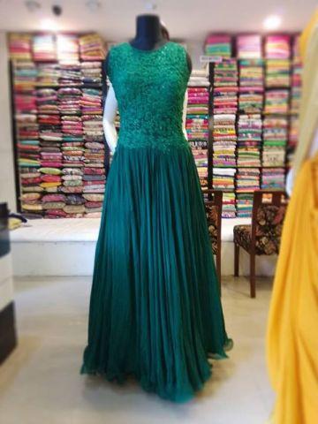 9e603fe1598 Dark Green Indo-Western. Blue Fancy Saree. Fancy Gown
