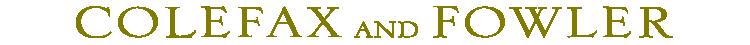 Colefax & Fowler logotyp
