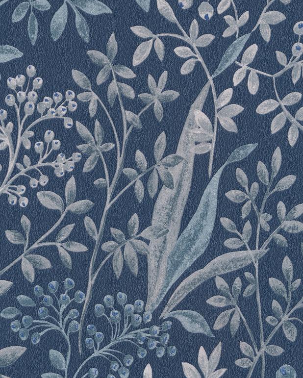 boråstapeter blå blommor