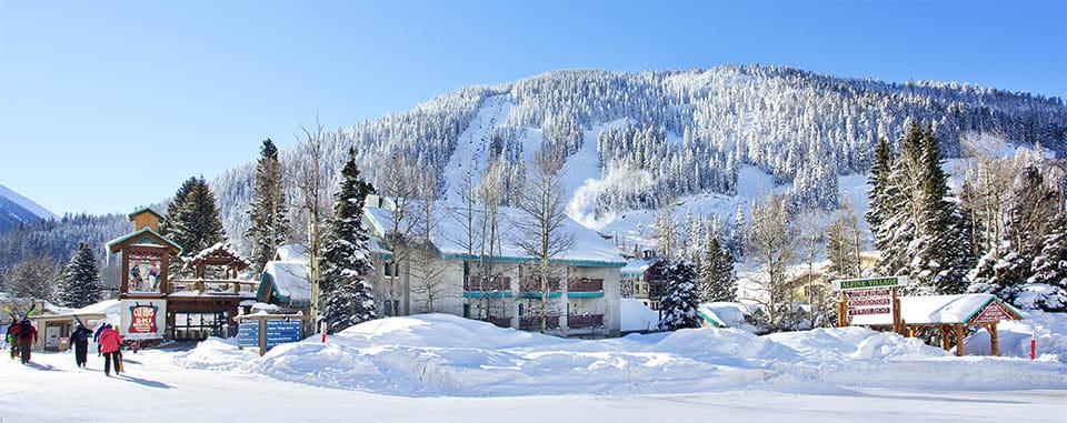 Alpine Village Suites winter panoramic