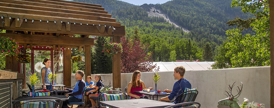 Alpine Village Suites summer patio