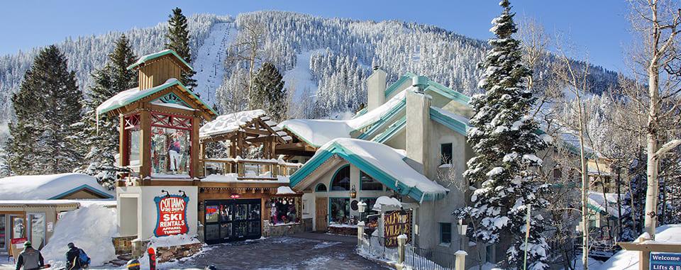 Alpine Village Suites winter exterior