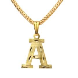 TulipMash Alphabet A Gold Plated  Premium Locket For Everyone Boy, Girl, Men & women  (Pack Of -1)