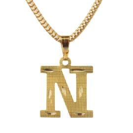 TulipMash Alphabet N Gold Plated  Premium Locket For Everyone Boy, Girl, Men & women  (Pack Of -1)