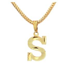 TulipMash Alphabet S Gold Plated  Premium Locket For Everyone Boy, Girl, Men & women  (Pack Of -1)