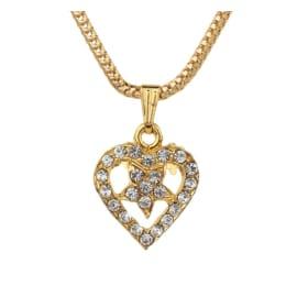 TulipMash BeautiFul  Heart  With Star Premium Locket For Girls & Women (Pack Of -1)