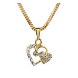 TulipMash BeautiFul Twin Heart With Stones  Premium Locket For Girls & Women (Pack Of -1)