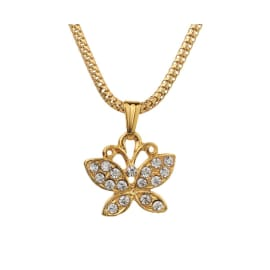 TulipMash Butterfly With Stone Premium Locket For Girls & Women (Pack Of -1)