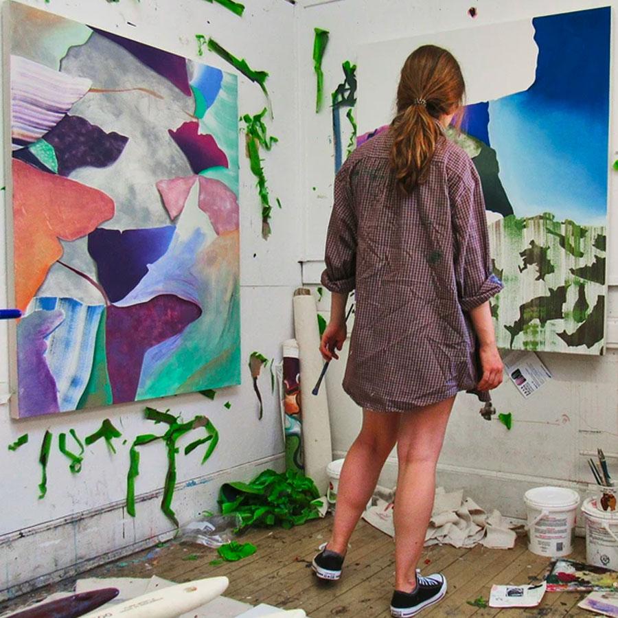 Alyssa Krause abstract painting