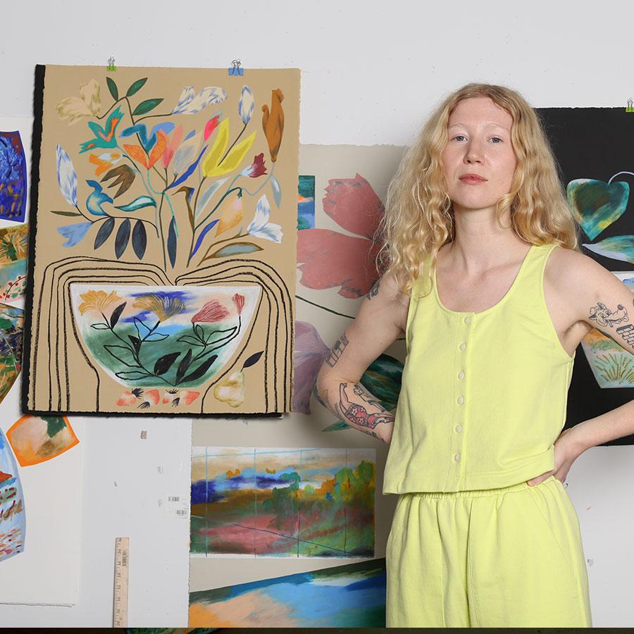 Brooklyn painter and printmaker Laura Burke