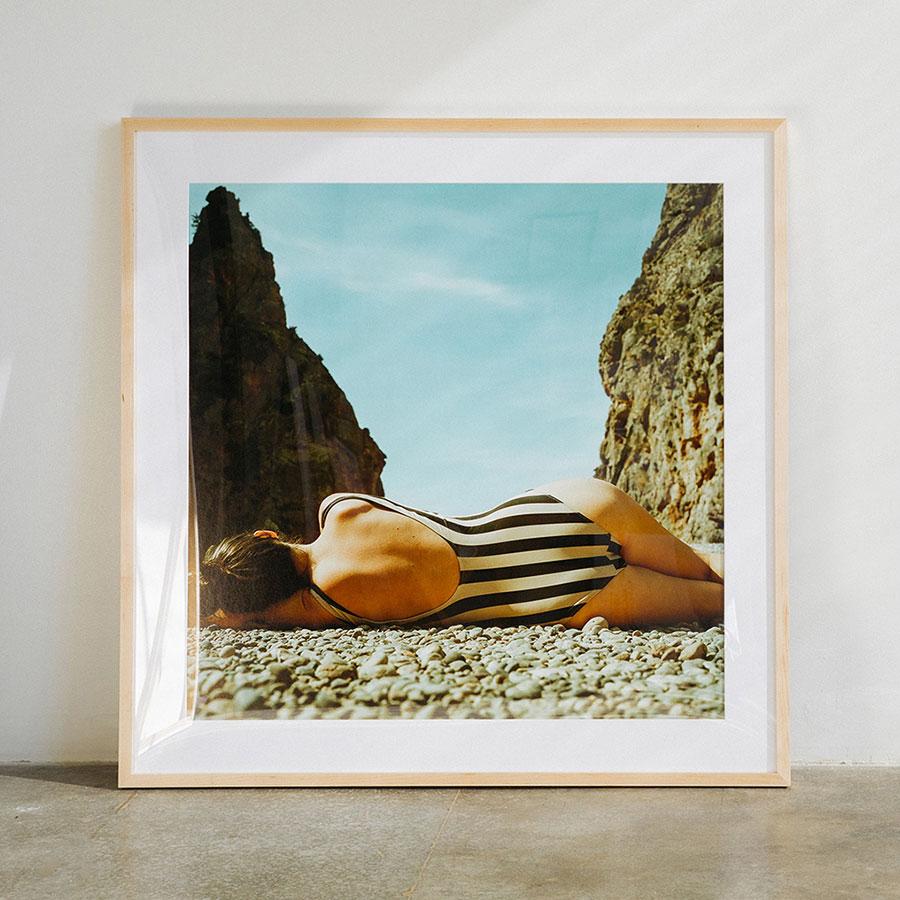beach photograph swimmer