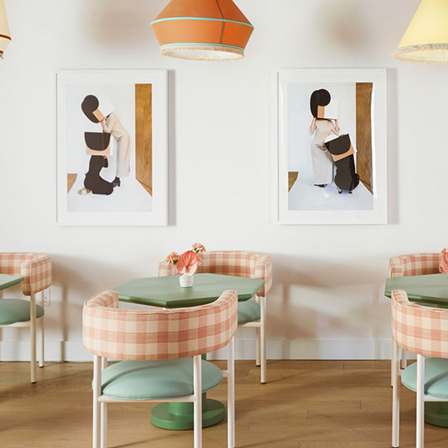 Triptych avant garde photograph
